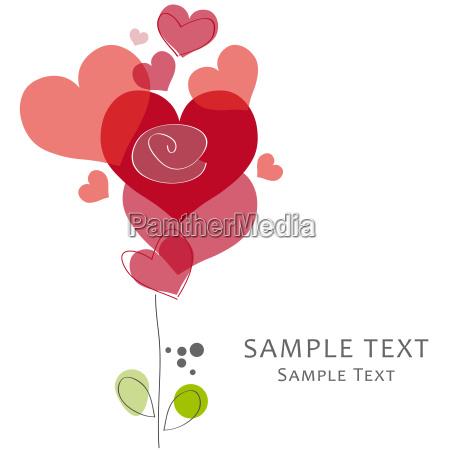grusskarte liebe valentin herz