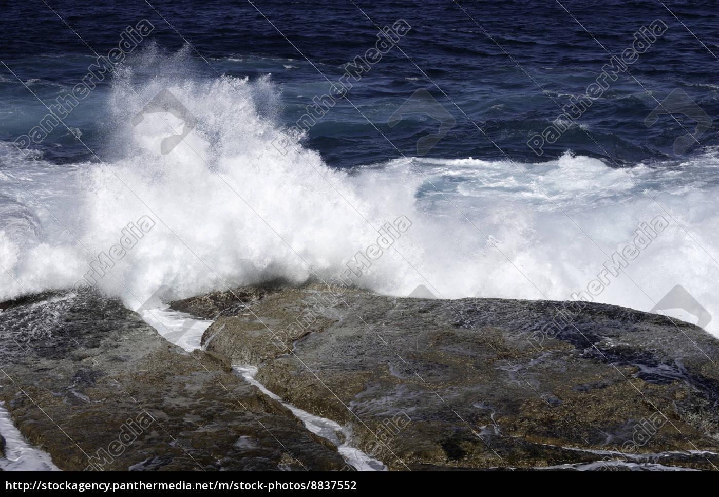ocean, waves, crashing, on, rocks - 8837552