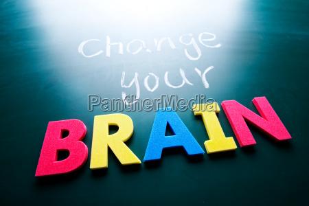 change your brain concept