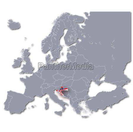 europakarte kroatien