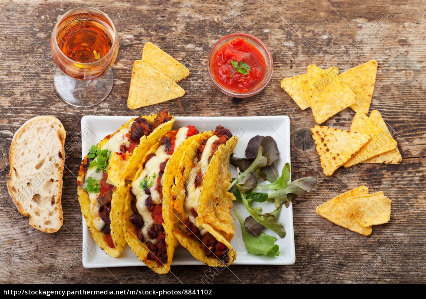 taco, mit, chili, con, carne, - 8841102