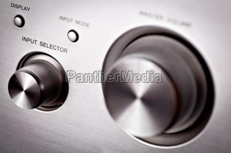 detail knopf button hifi audio einzelheit