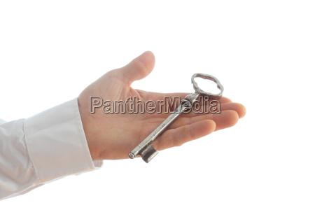 schluessel und hand