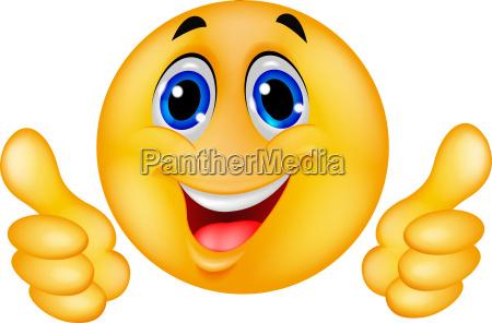 gluecklicher smileyemoticon gesicht