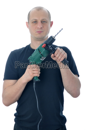 handyman with drill