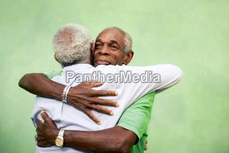 old friends two senior african american