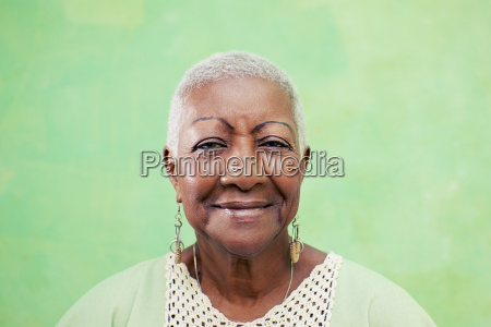 portrait of senior black woman smiling