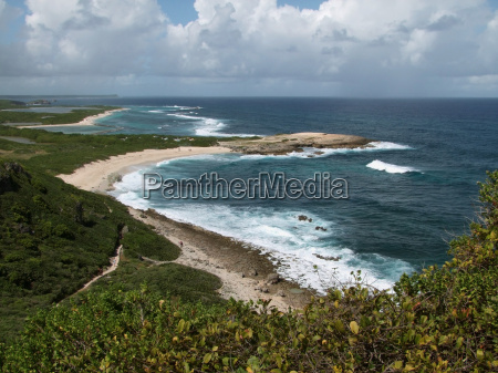 coastal scenery at guadeloupe