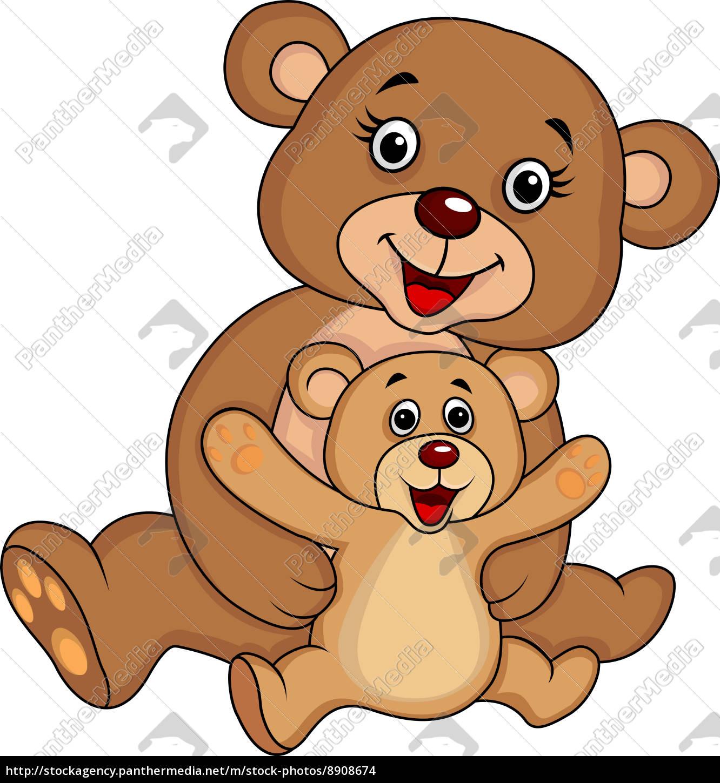 Stockfoto 8908674 Mutter Und Baby Bär Cartoon