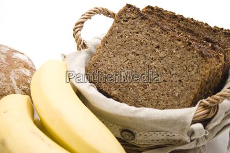 vollkornbrot mit banane