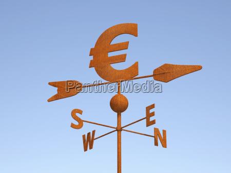 euro als wetterhahn
