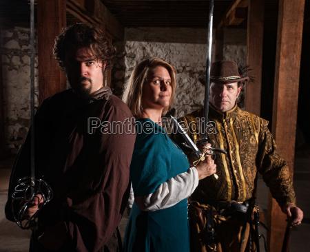 brave trio of swordfighters