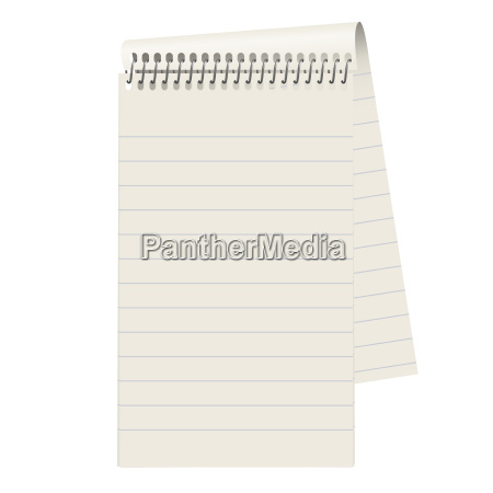 leerer block papier liniert