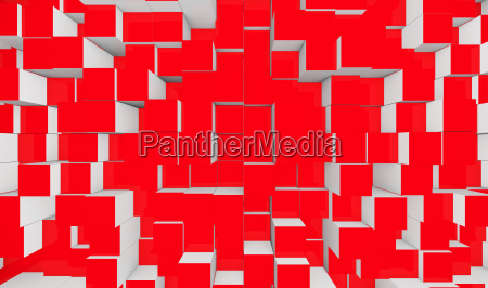 background cubes blend red white