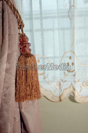 braune seide vorhang