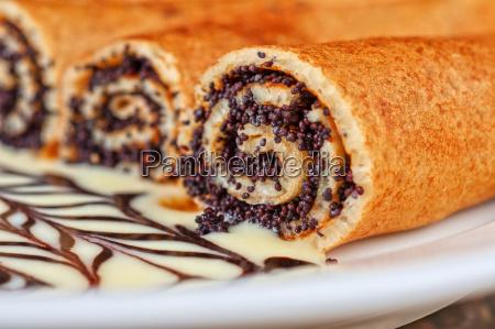 pfannkuchen, mit, mohn - 8959180
