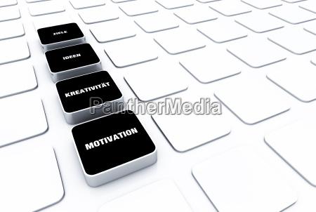 pad konzept schwarz motivation kreativitaet