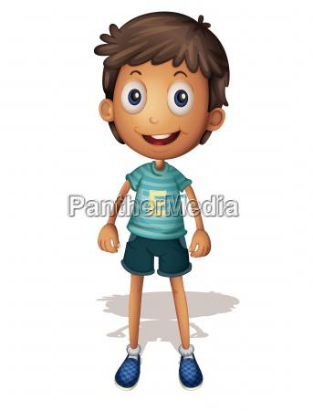 3d illustration of a boy