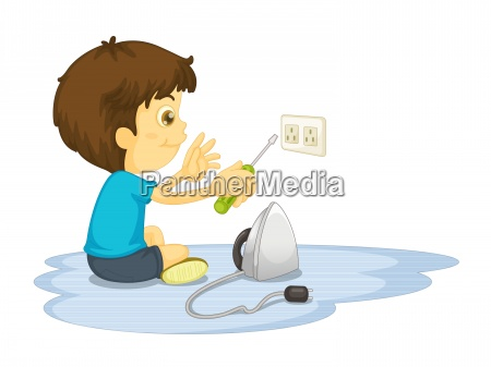 freisteller person energie strom elektrizitaet klein