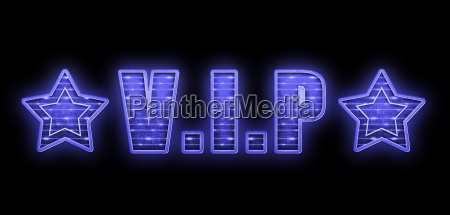 vip light font