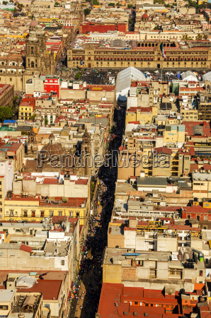 mexico city cathedral and zocalo