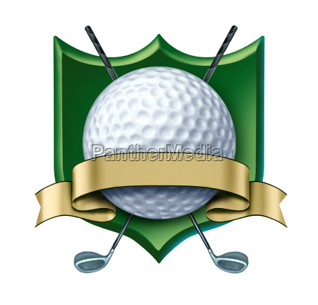 golf award wappen mit leerem gold