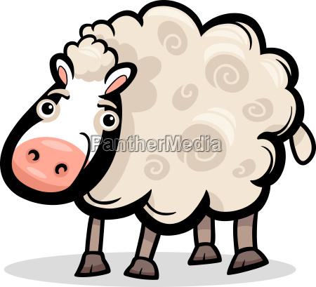 schaf farm tier cartoon illustration