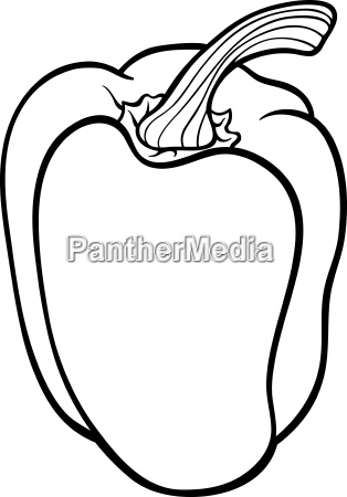 pepper vegetable cartoon for coloring book
