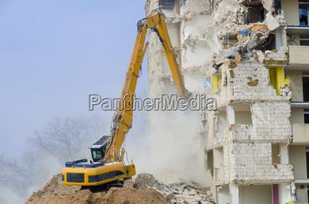 block of flats demolition