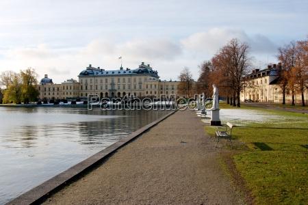 schweden stockholm palast schwedisch betagt altes