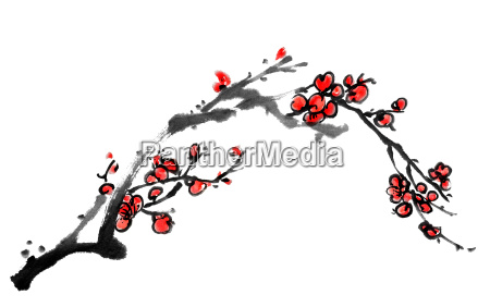 chinese painting of plum blossom