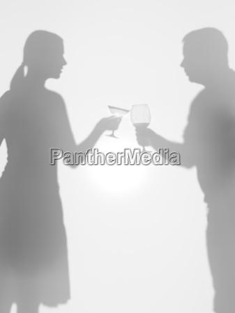 menschen olding glaeser silhouetten prost
