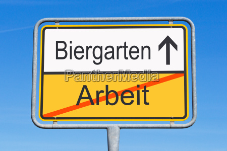 work and biergarten