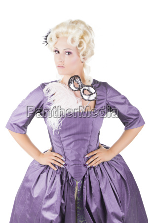 romantico barroco traje pluma rubia rubio