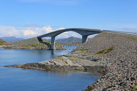 atlanterhavsvegen atlantic road in norwegen