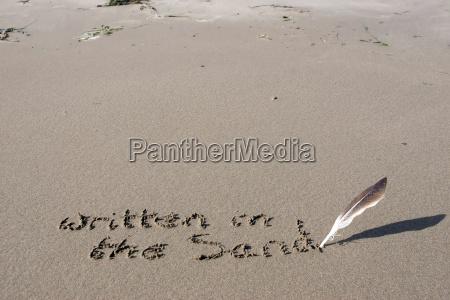 im sand geschrieben