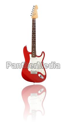 e gitarre mit spiegelung