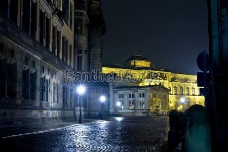 dresden panorama nacht in der altstadt