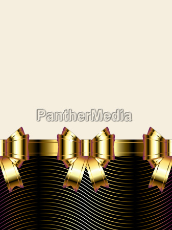 holiday background with golden bow