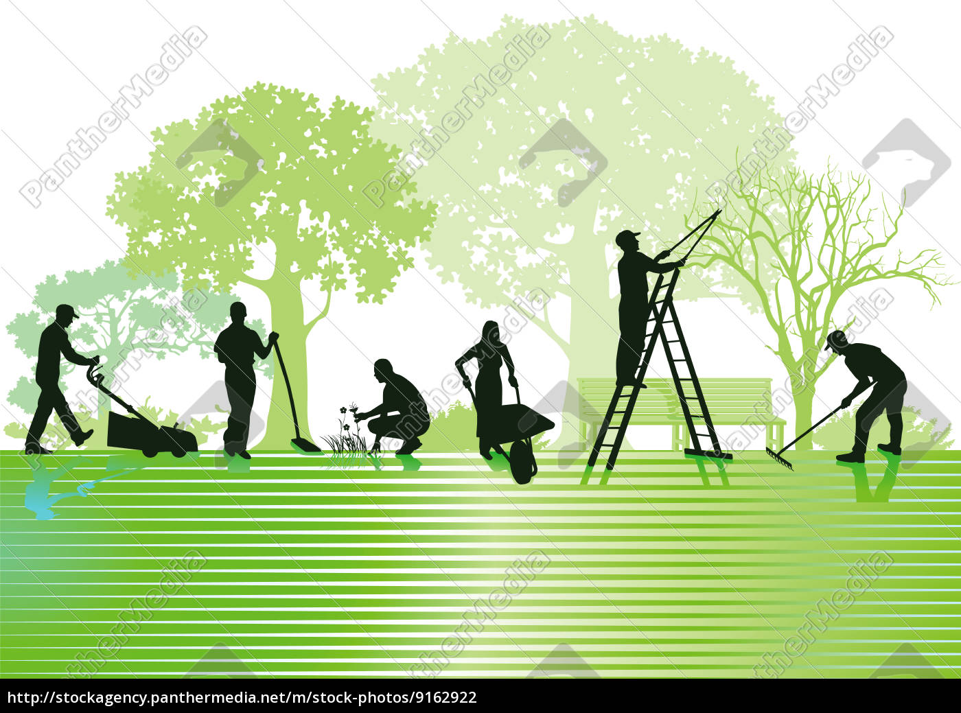Berühmt Gartenarbeiten und Gartenpflege - Stock Photo - #9162922 &WE_98
