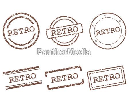 retro stempel