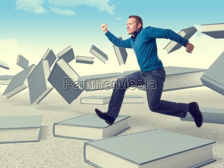 man on books