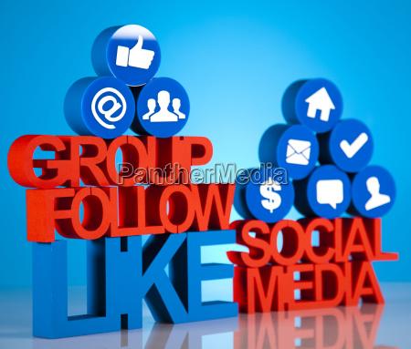 internetkonzept mit sozialen medien
