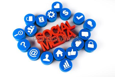 social media netzwerk anschluss konzept