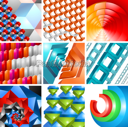 vector 3d background abstract design set