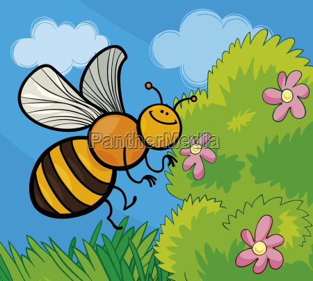 honey bee cartoon illustration