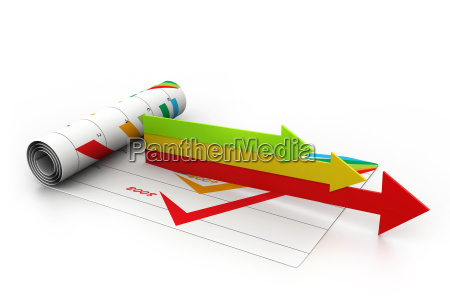 business arrows in chartbusiness growth concept