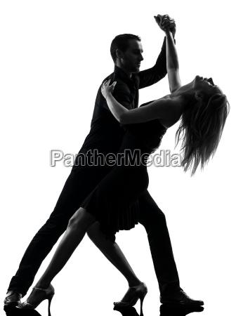 paar frau mann tanzen taenzer silhouette
