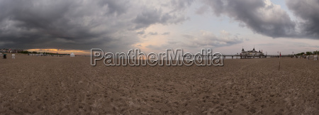 panorama beach of ahlbeck with