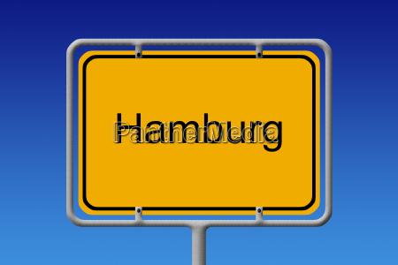 hamburg sign